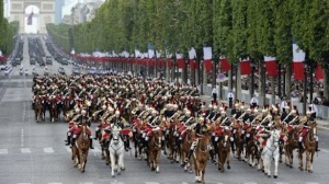 Picture-taken-on-July-14-2011-in-Paris-shows-horsemen-of-the-French-Republican-Guard-during-the-annual-Bastille-day-parade.-AFP